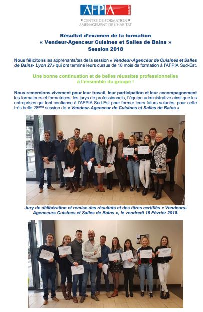 Vendeur Agenceur Cuisines Et Salles De Bains Session 2018
